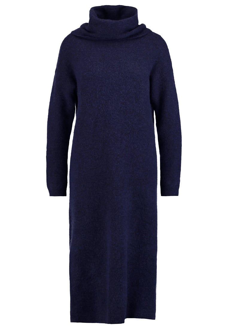 2f0057864c977d Gebreide jurken Selected Femme SFLIVANA - Gebreide jurk - dark sapphire…