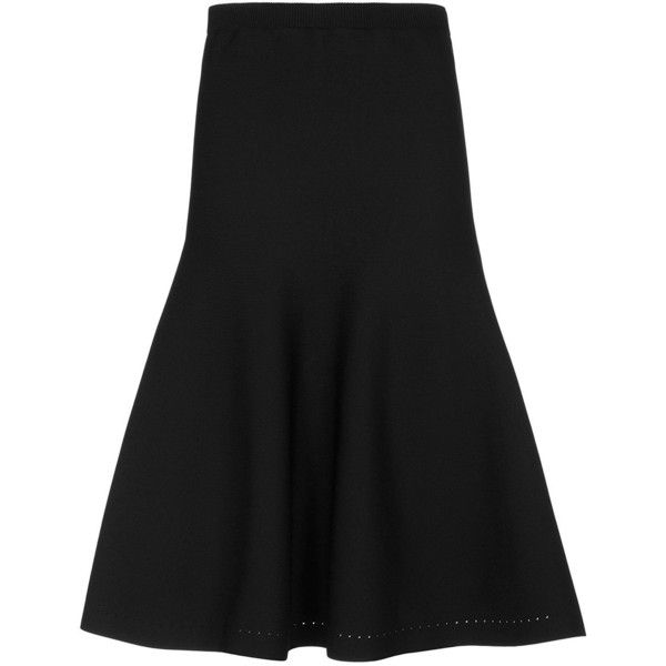 Cushnie Et Ochs Fit & Flare Skirt: Black ($695) ❤ liked on Polyvore featuring skirts, black, cushnie et ochs, rayon skirt, skater skirt, circle skirt and flared skirt