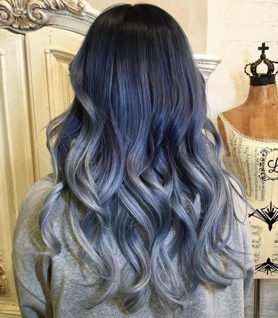FairyLike Blue Ombre Hairstyles Gray ombre Ombre and Hair