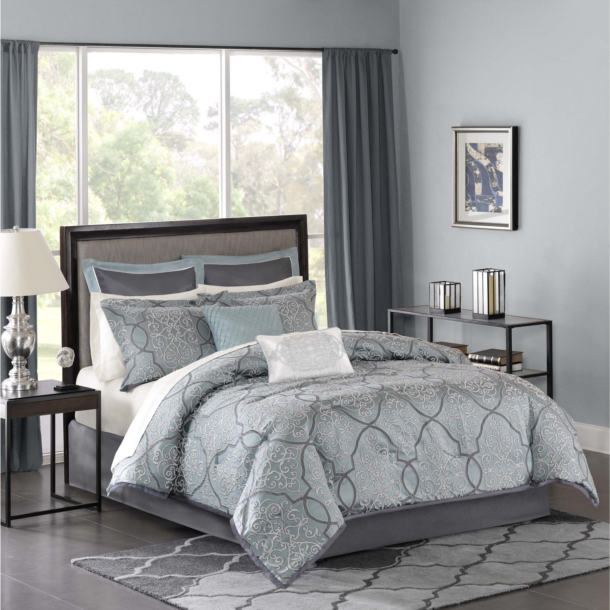 Madison Park Anouk Jacquard 12 piece plete Bed Set