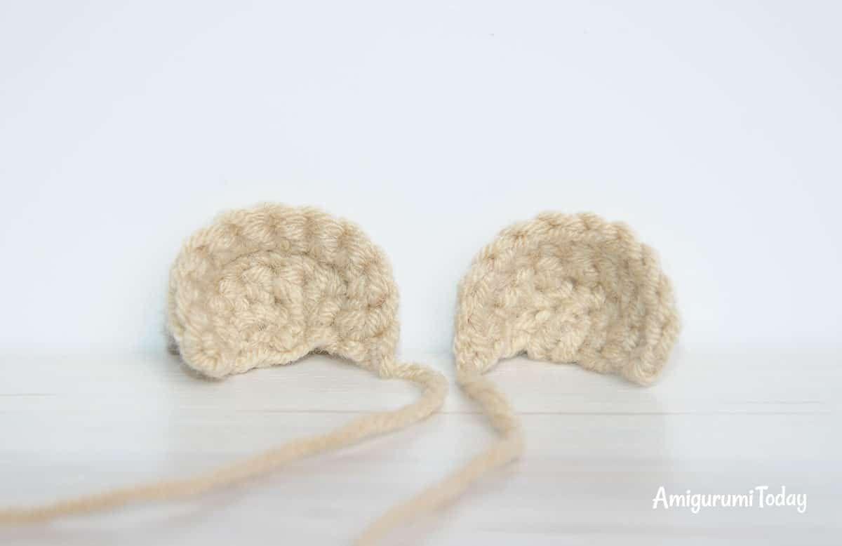 Ositos de peluche - patrones de ganchillo gratis - orejas | Tejidos ...