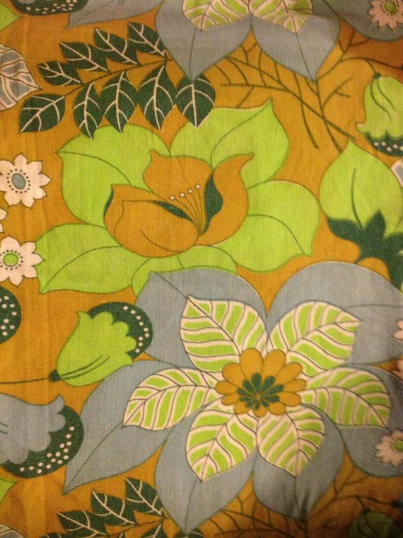 70s retro vintage fabric.