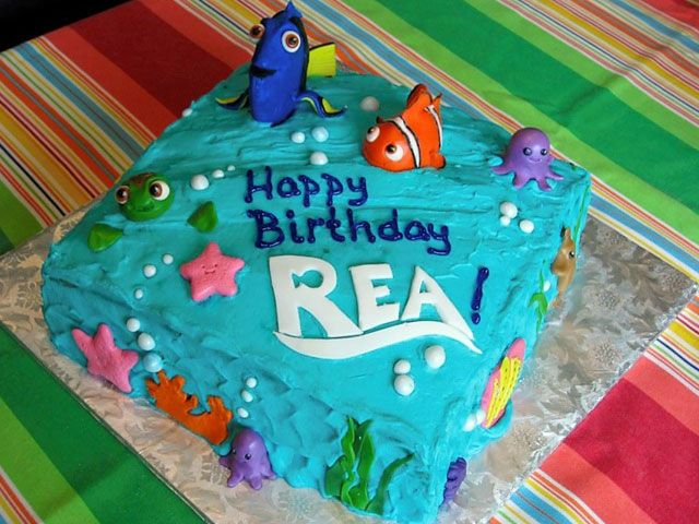 I Like How They Did The Font Like The NEMO Movie Font Sweets - Finding nemo birthday cake