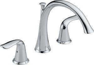 Delta Faucet Lahara Roman Tub Faucet 3 Hole 2 Handle Lever Deck