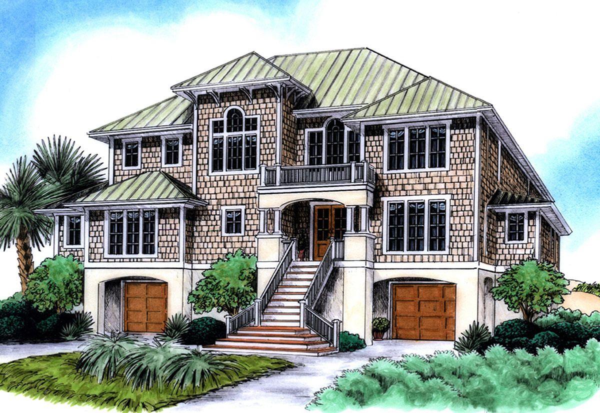 Plan 15038NC: Spacious Beach House Plan