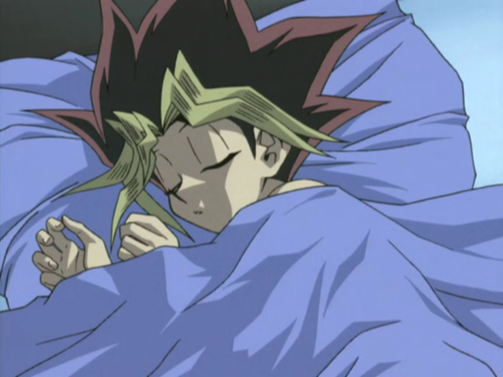 Image result for yugi sleeping