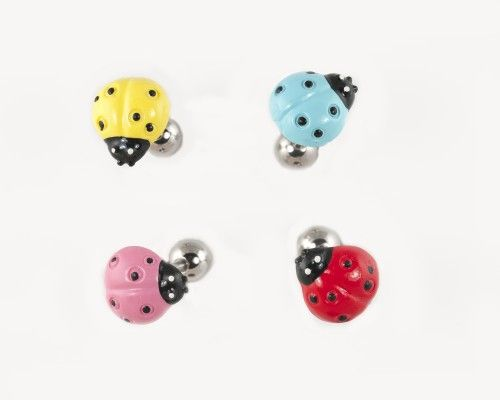 Acrylic Lady Bug Tongue Ring Made From 14 12 And 10 Gauge 316l Surgical Steel This Tongue Ring Fea Cute Tongue Rings Tongue Rings Gauges Piercing