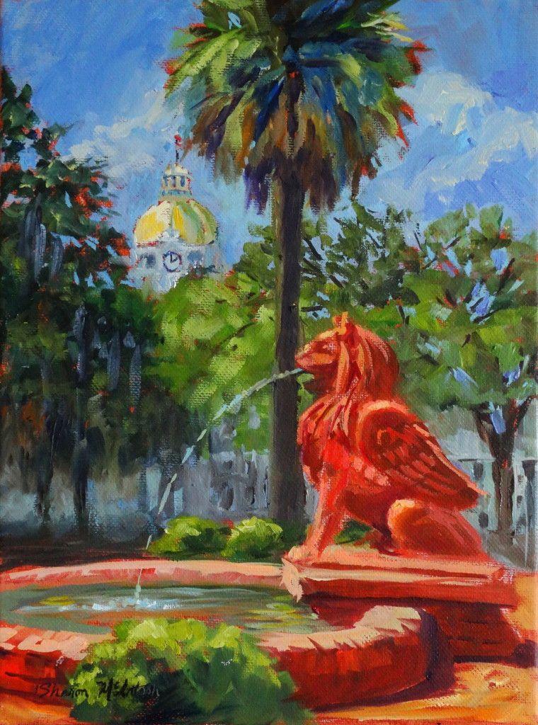 Take A Painting Tour Of Savannah Savannah Art En Plein Air Painting Painting
