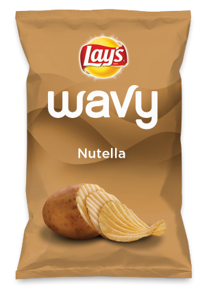 Wouldn't Nutella be yummy as a chip? Lay's Do Us A Flavor is back, and the search is on for the yummiest flavor idea. Create a flavor, choose a chip and you could win $1 million! https://www.dousaflavor.com See Rules.