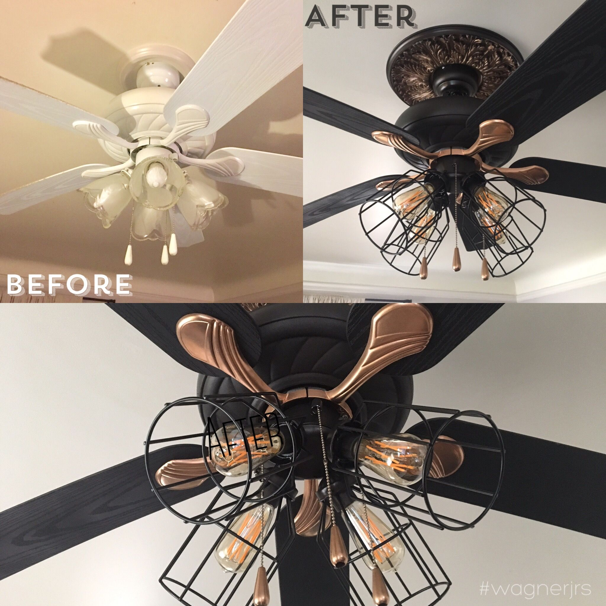 This Update Is Something Something Complete Couldn T Part With Nana S Old Fan So I Gave It Some Fresh P Ceiling Fan Makeover Diy Furniture Fix Chandelier Fan