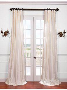 White Satin Silk Taffeta Curtain Get Up To 40 Off At Half Price Drapes Using