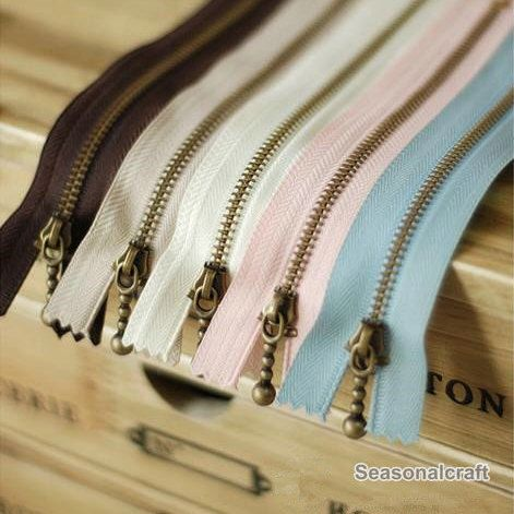 5pieces Metal Zipper Antique Brass Zippers 15cm 5 9 Etsy In 2020 Antique Brass Brass Color Mixing