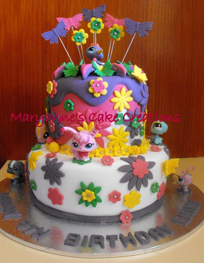 Fabulous The Littlest Pet Shop Cake Cake Kids Cake Lps Cakes Funny Birthday Cards Online Elaedamsfinfo