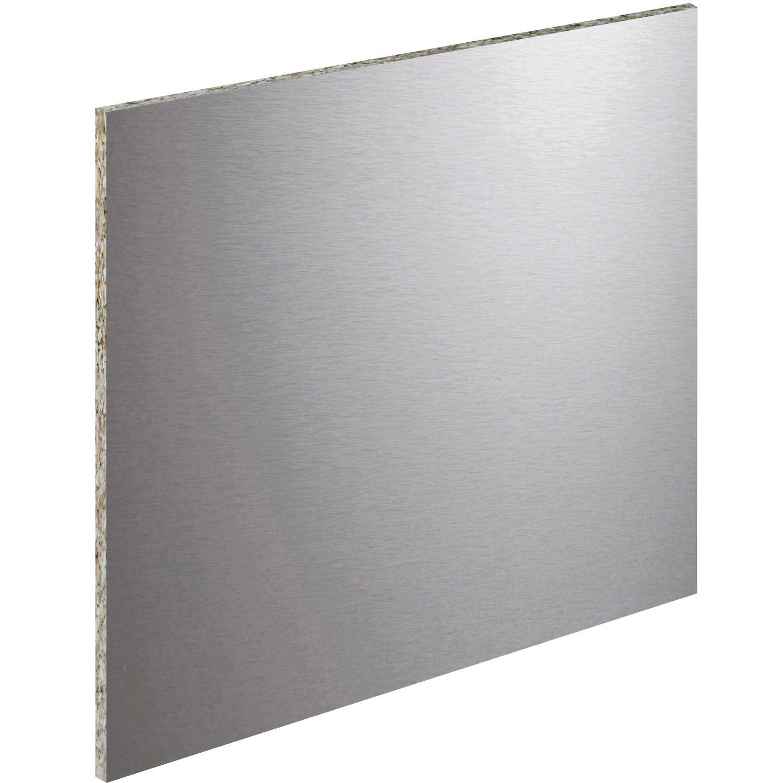 credence leroy merlin cr dence stratifi aspect m tal inox x cm ep 8 mm credence. Black Bedroom Furniture Sets. Home Design Ideas