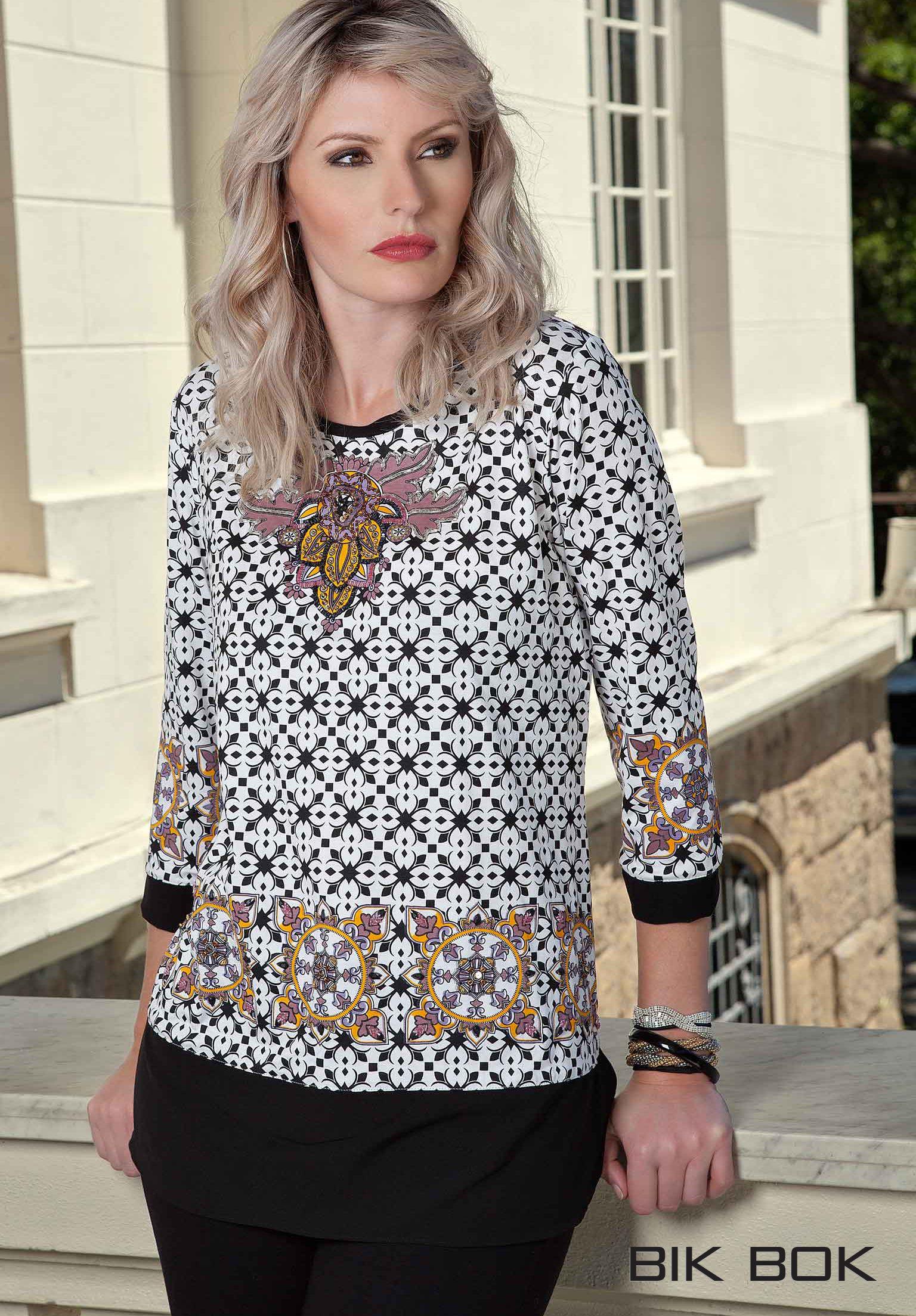 Continuamos com a tendência Étnica !!! Blusa com bordado exclusivo feito especialmente para você! #outonoinverno #bikbok #inverno2014 #winter2014