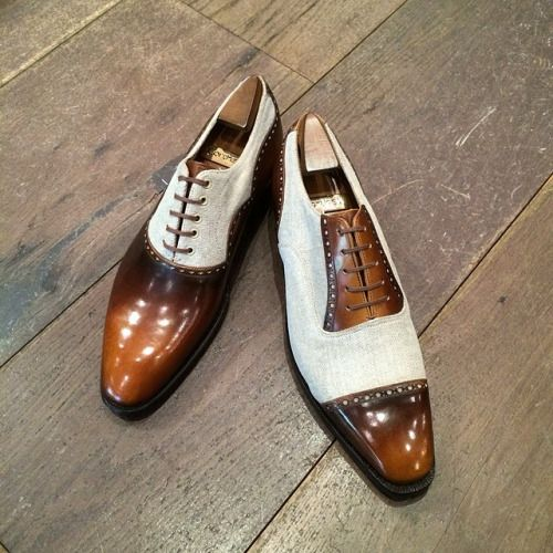 http://chicerman.com  leffot:  Corthay samples spring/summer 2015. These and other models will be featured at our Corthay trunk show Oct 9th & 10th. (at Leffot)  #menshoes