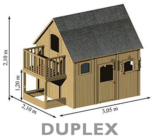 Soulet - Cabane - Maisonnette en bois duplex SOULET Soulet   - Maisonnette En Bois Avec Bac A Sable