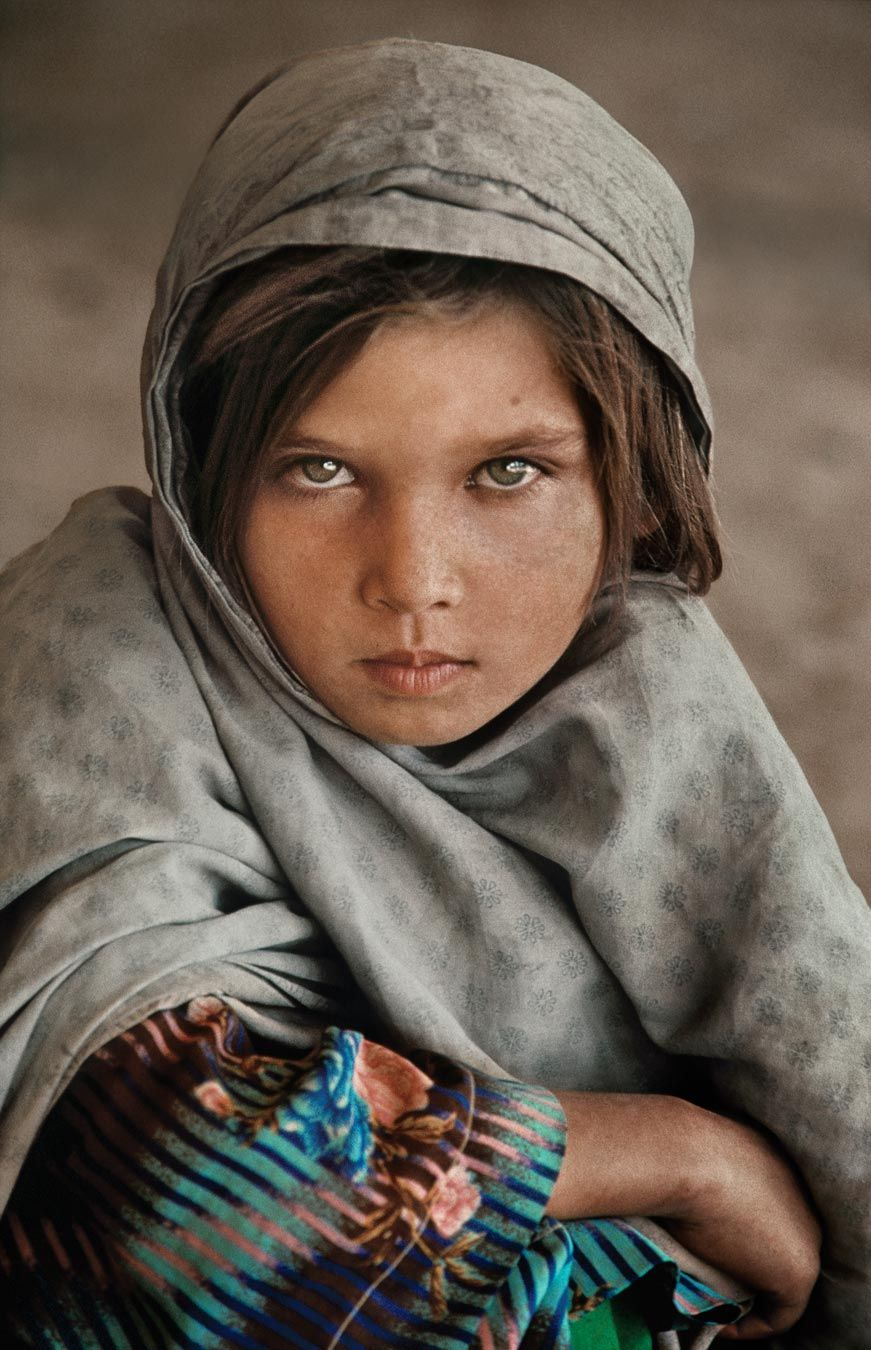 Portraits Steve Mccurry Ghazni Afghanistan Her Eyes Look So