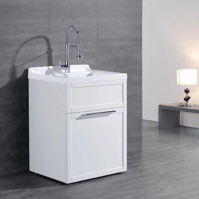Daisy White Vanity Style Utility Sink With Faucet By Ove