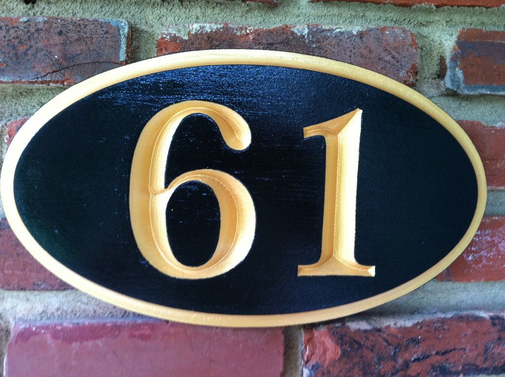 Custom Carved House Number Street Address Marker Ca The Carving Company