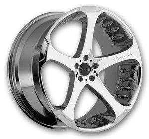Giovanna Wheels Dalar 20 Chrome Low Offset - Wheels Only - Staggered (Giovanna-Rims-Dalar-20)