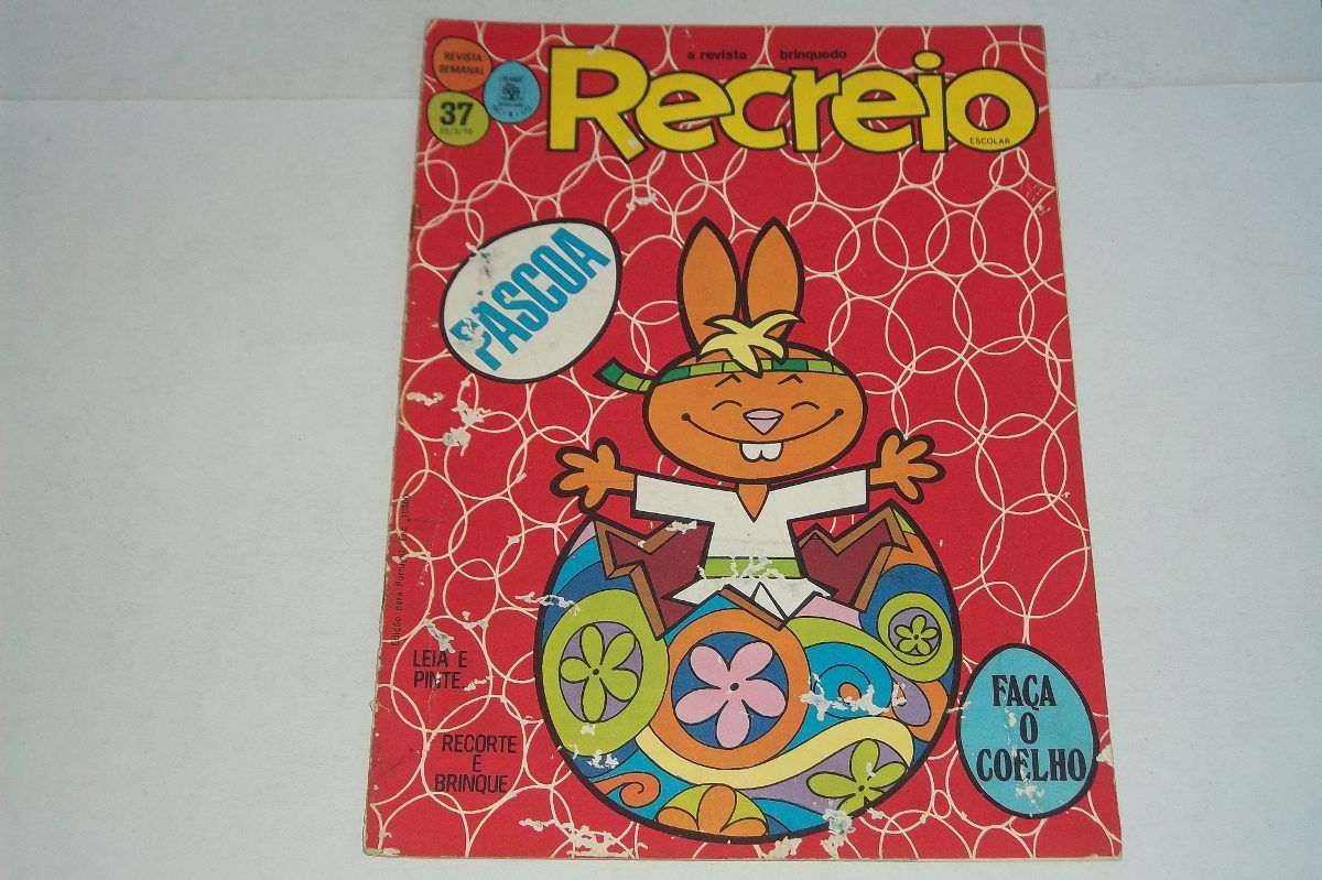 Recreio Revista Brinquedo Nº 37 Ed Mar 1970 Colagem Pintura - R$ 79,90 no MercadoLivre