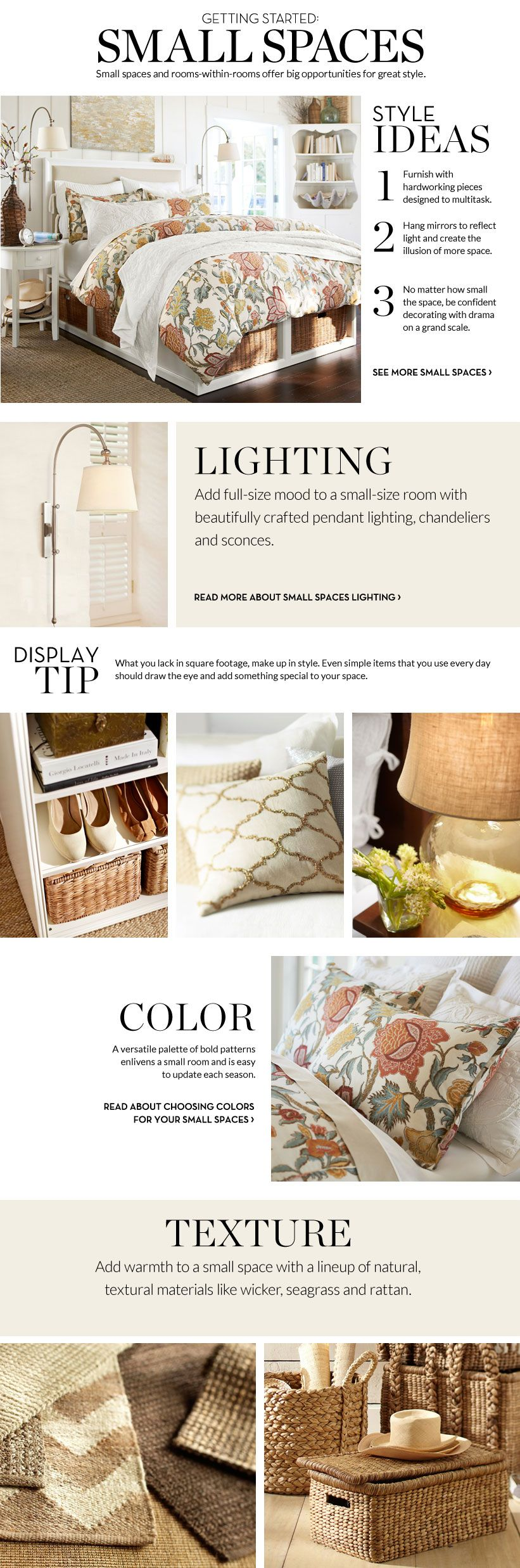 Small Spaces Inspiration U0026 How To Decorate Small Spaces | Pottery Barn