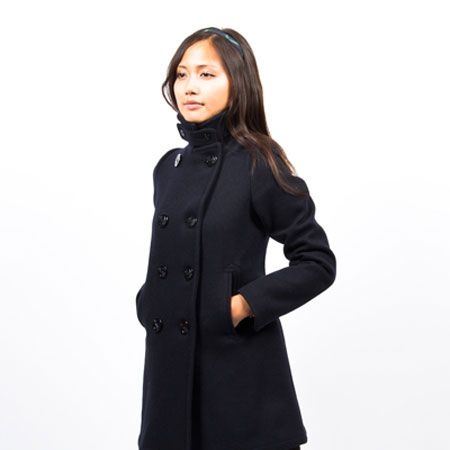 Navy Pea Coat Womens