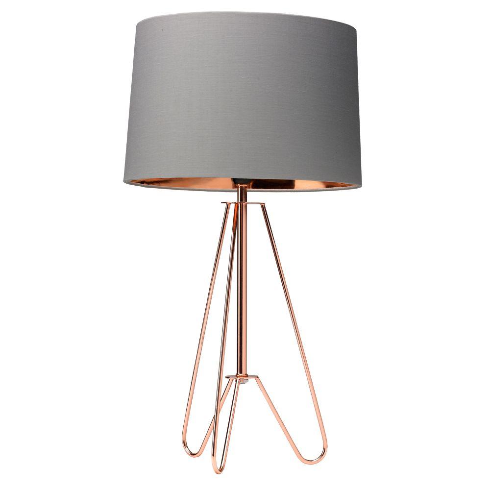 Ziggy 49cm Table Lamp Copper Grey In 2019 Lighting