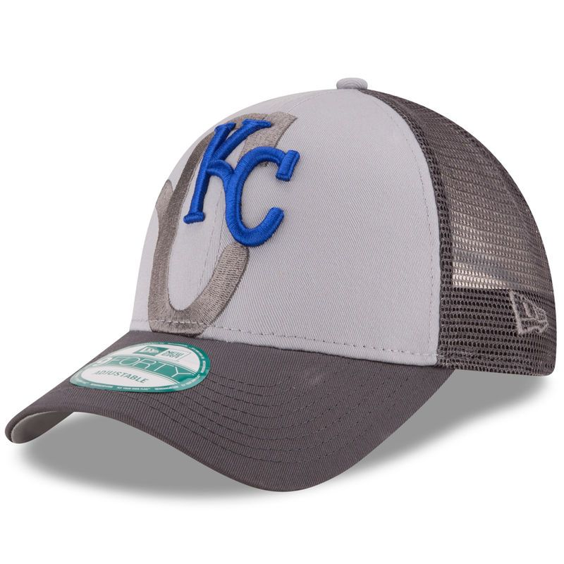 timeless design 45d9b 78a58 Kansas City Royals New Era Shadow Grayed 9FORTY Snapback Adjustable Hat -  Gray