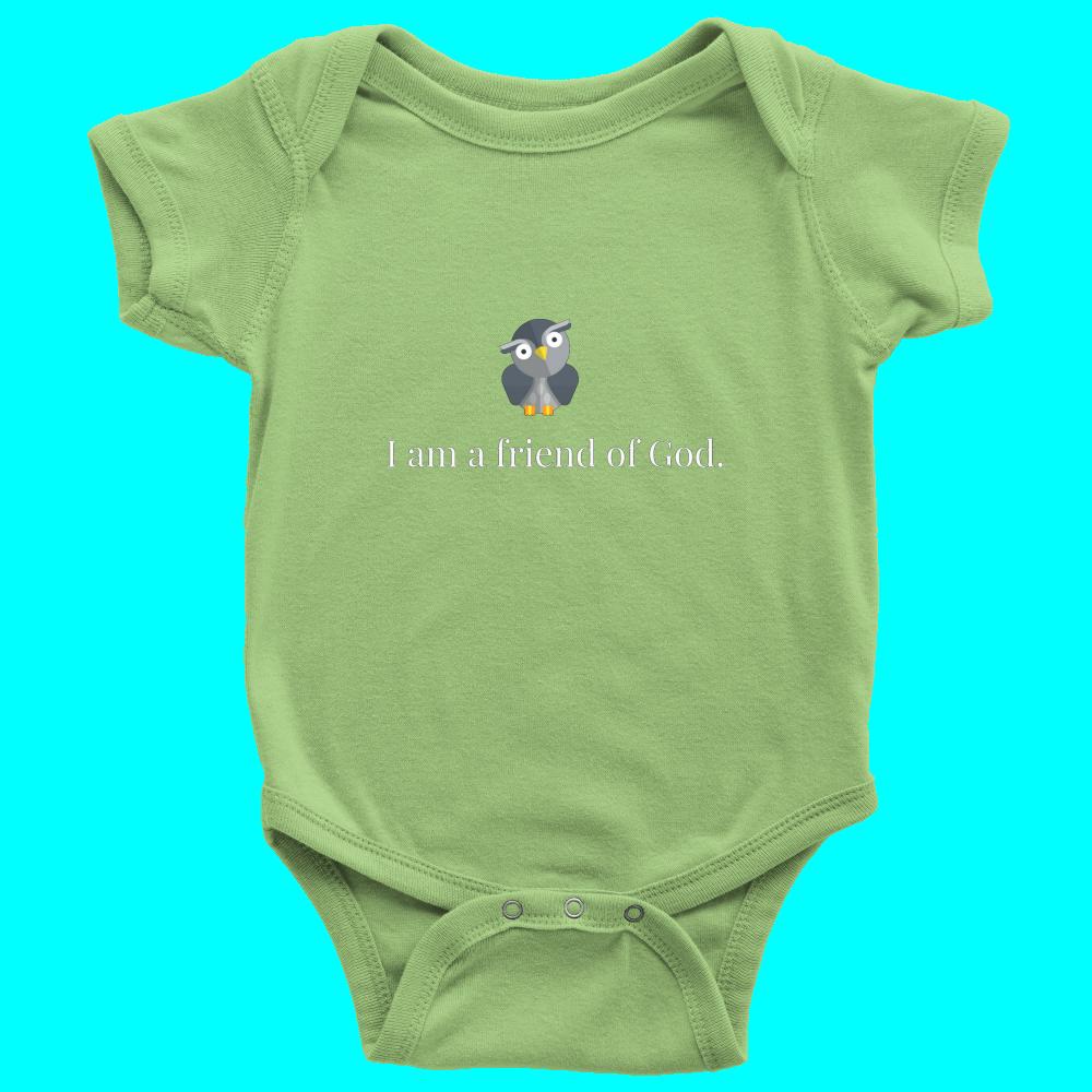 Friend Of God Owl Keylime Custom Made Iheartgod Baby Wear Onesie