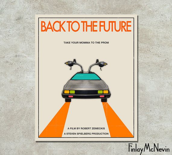 BACK To The FUTURE Movie Poster Fine Art Print by FinlayMcNevin