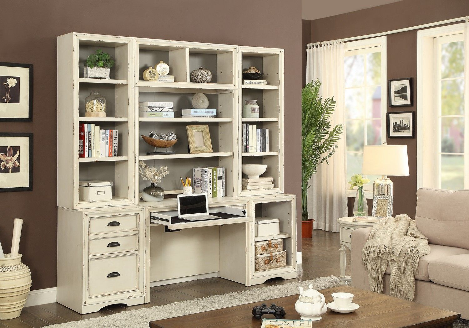 Parker House Nantucket 6PC HOME OFFICE Hudson furniture