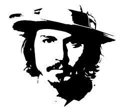 Johnny Depp Stencil//Template Reusable 10 mil Mylar Stencil