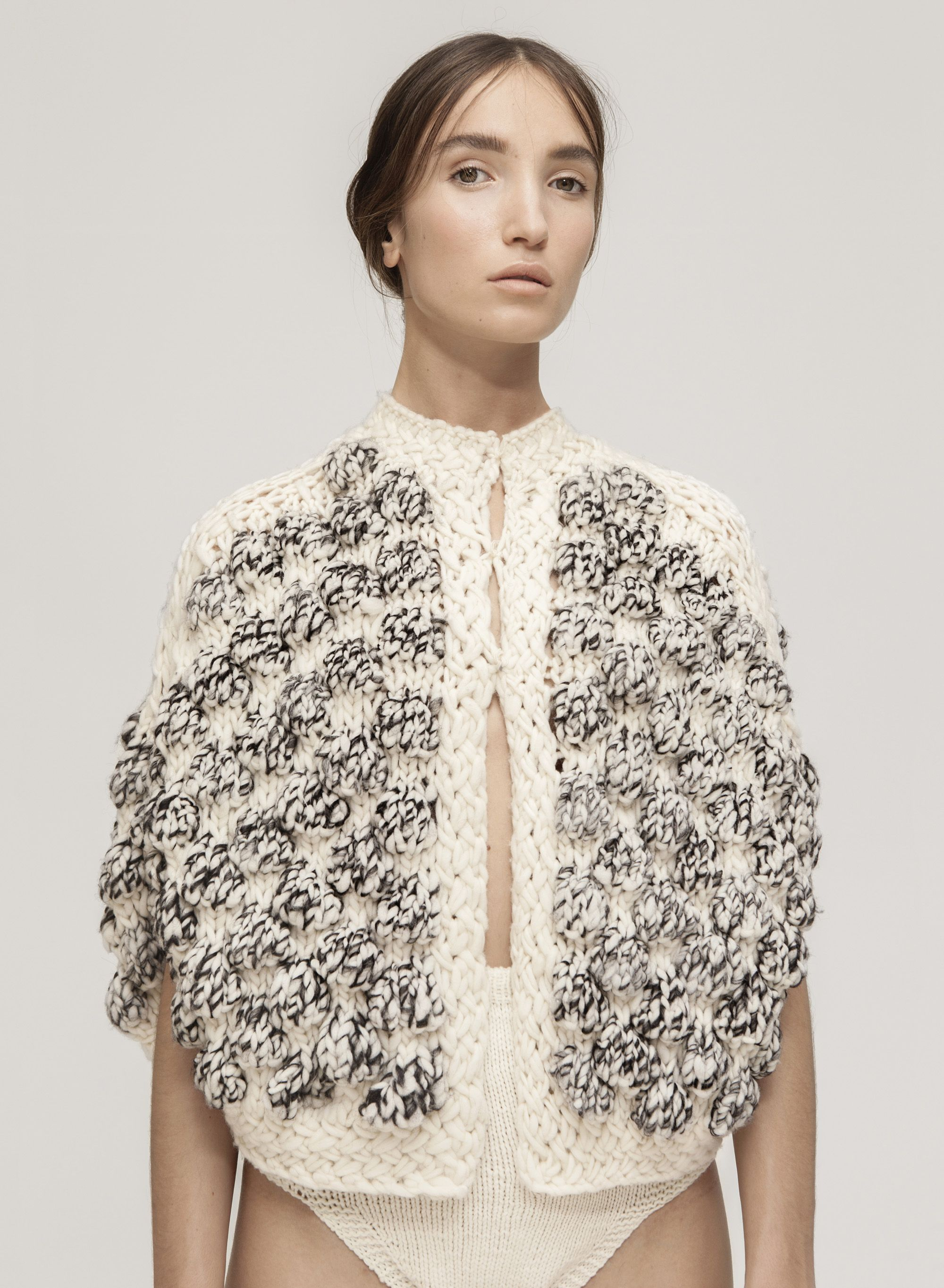 7d958a383a3d COCOON SHORT CAPE. Spanish merino wool. Handmade in Spain. | Knit ...