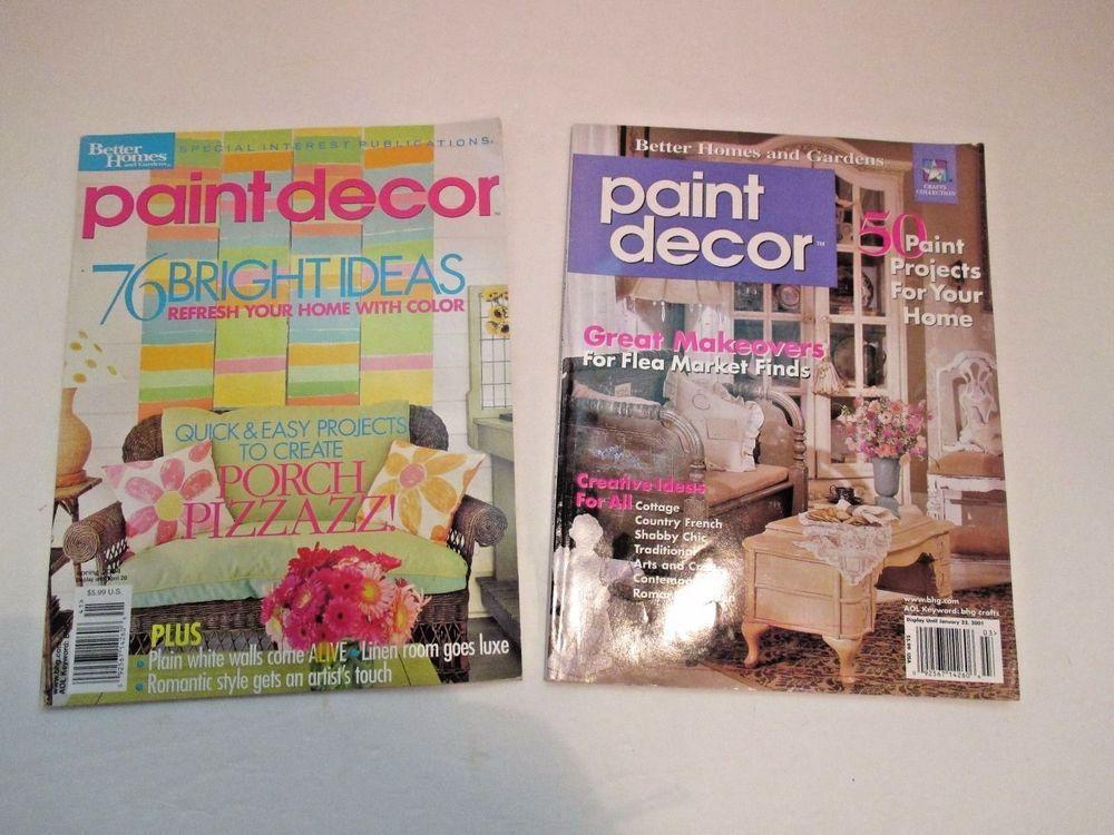 Better Homes U0026 Gardens Paint Decor Magazines Makeovers Lot Of 2 Year 2001 U0026  2004