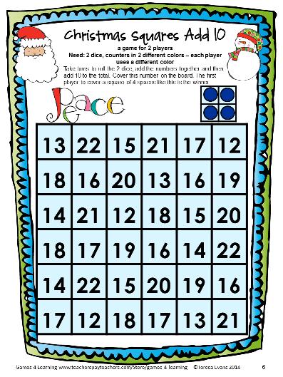 Christmas Math Games First Grade: Fun Christmas Activities ...
