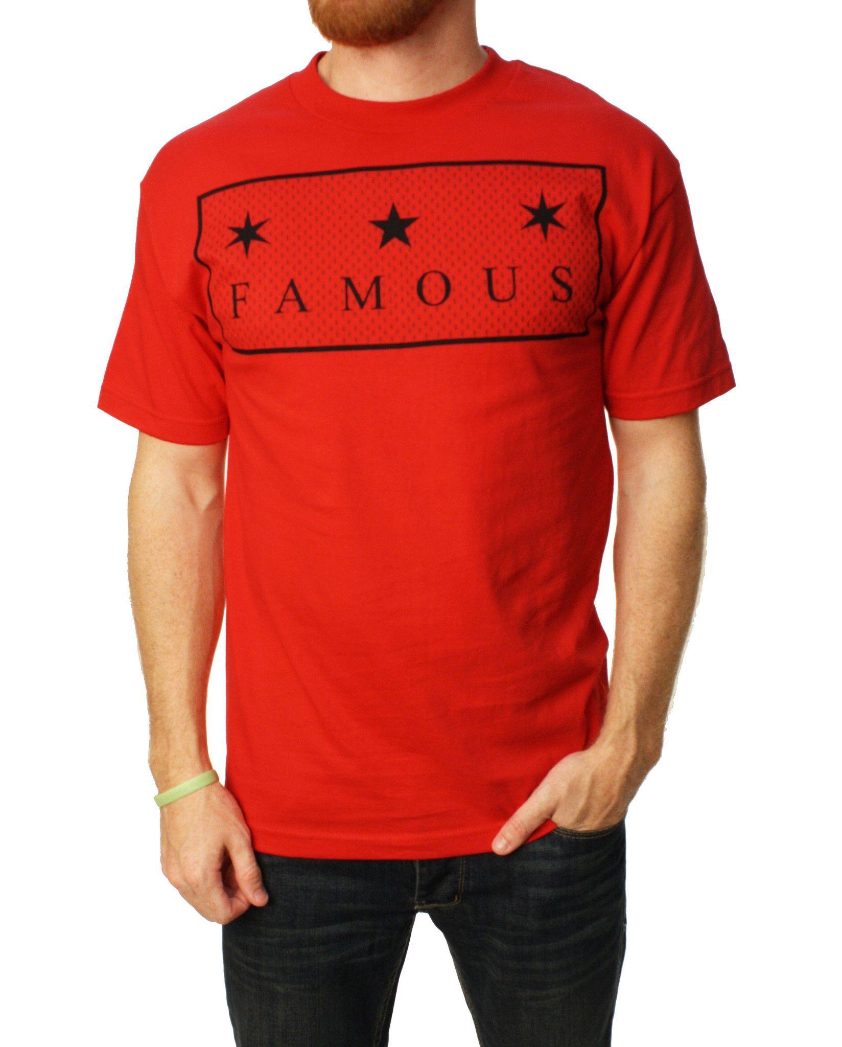 Famous Stars And Straps Men's TS Box Logo Graphic T-Shirt