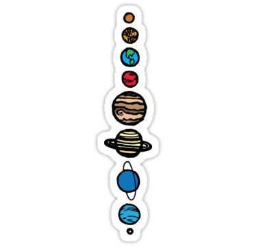 Planets Colour Sticker By Tpdesigns Products In 2019
