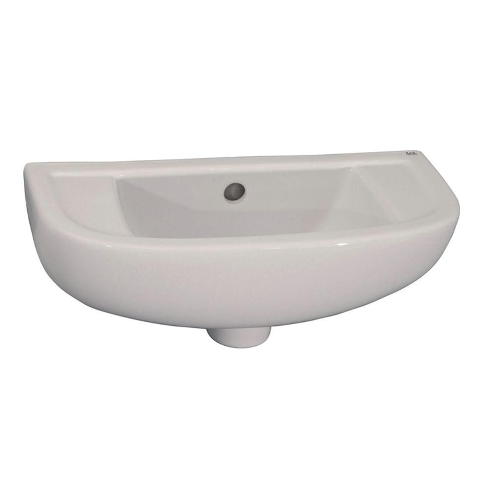Barclay Products Compact Slim Line Wall Mounted Bathroom Sink In