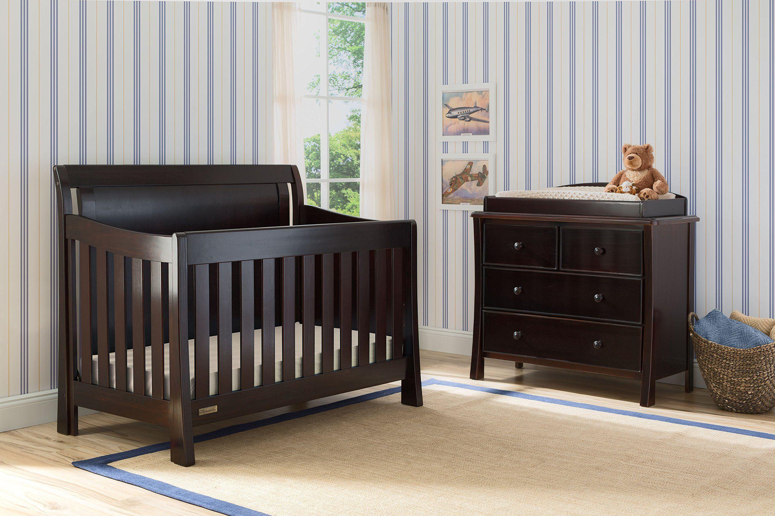 Simmons Kids Broadway 5piece Black Espresso Nursery Furniture Set