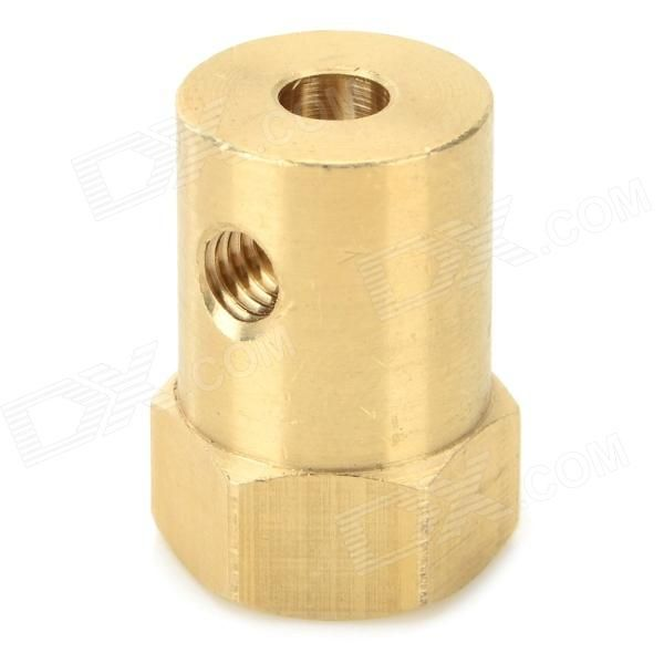 DIY 4mm Hexagonal Coupler Connector for R/C Car - Bronze. Color Brass Brand N/A Model ZC-4 Material Brass Quantity 1 Piece Compatible Model R/C Car TT wheel Other Features Coupler shaft diameter: 4mm; coupler diameter: 12mm. Packing List 1 x Coupler 1 x Wrench 2 x Screws. Tags: #Hobbies #Toys #R/C #Toys #Other #Accessories