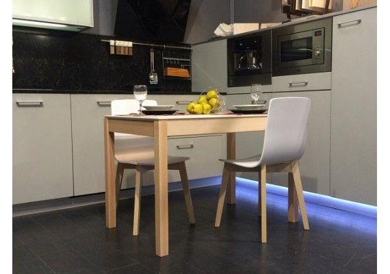 Mesa extensible Mirka encimera ceramica | Mesa cocina estilo ...
