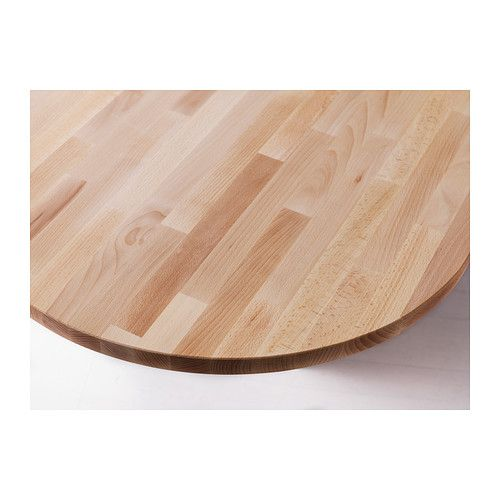 Gerton Table Top Ikea Solid Wood Is A Durable Natural Material Pre Drilled Leg