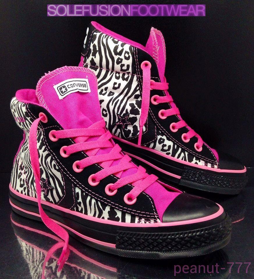 Converse ALL STAR Womens Leopard Print Zebra Boot Sz 4.5 Pink Black LTD 37  US6.5 28c6d4cc0