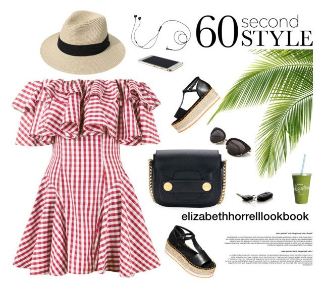 """""""SUMMER VIBES"""" by elizabethhorrell ❤ liked on Polyvore featuring H&M, House of Holland, Marshall and STELLA McCARTNEY"""