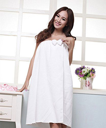 deb4b97ad6 Generic Lovely Girl Soft Bath Towel Beach Towel with Bows (White) Generic  http