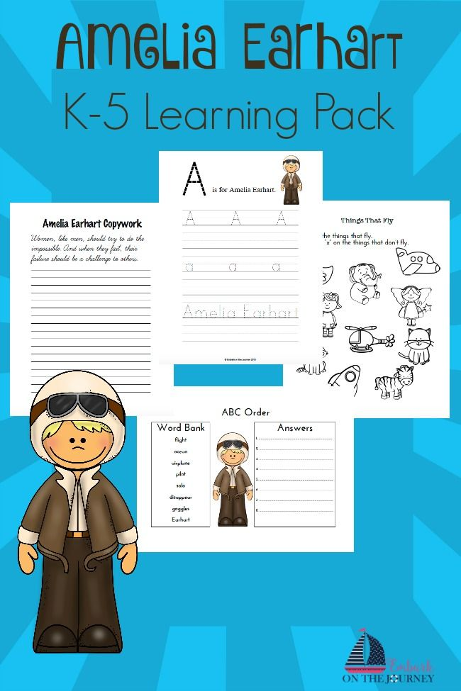 Engaging Amelia Earhart Unit Study for K-2