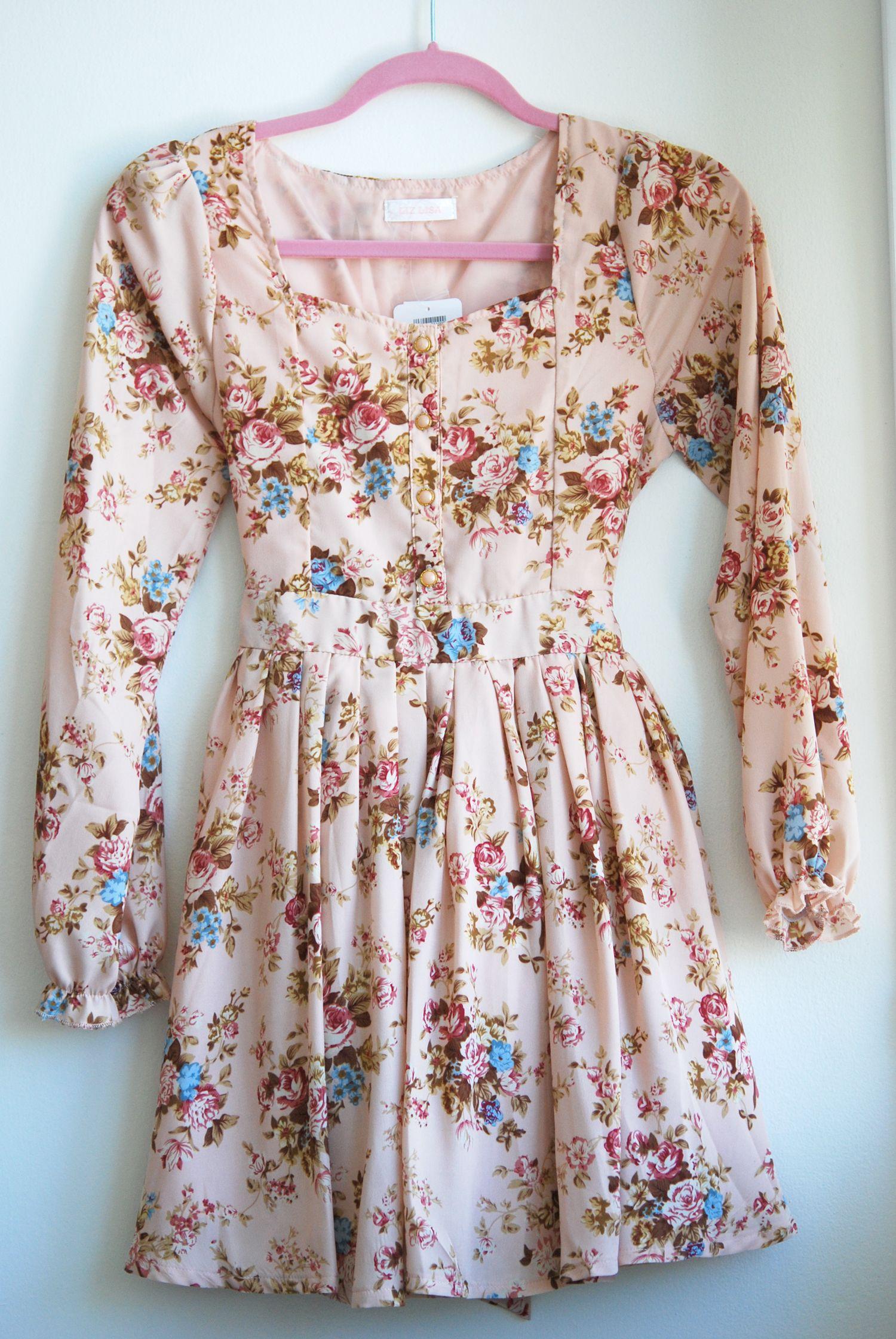 Floral long sleeve dress liz lisa sugarrrr pinterest liz