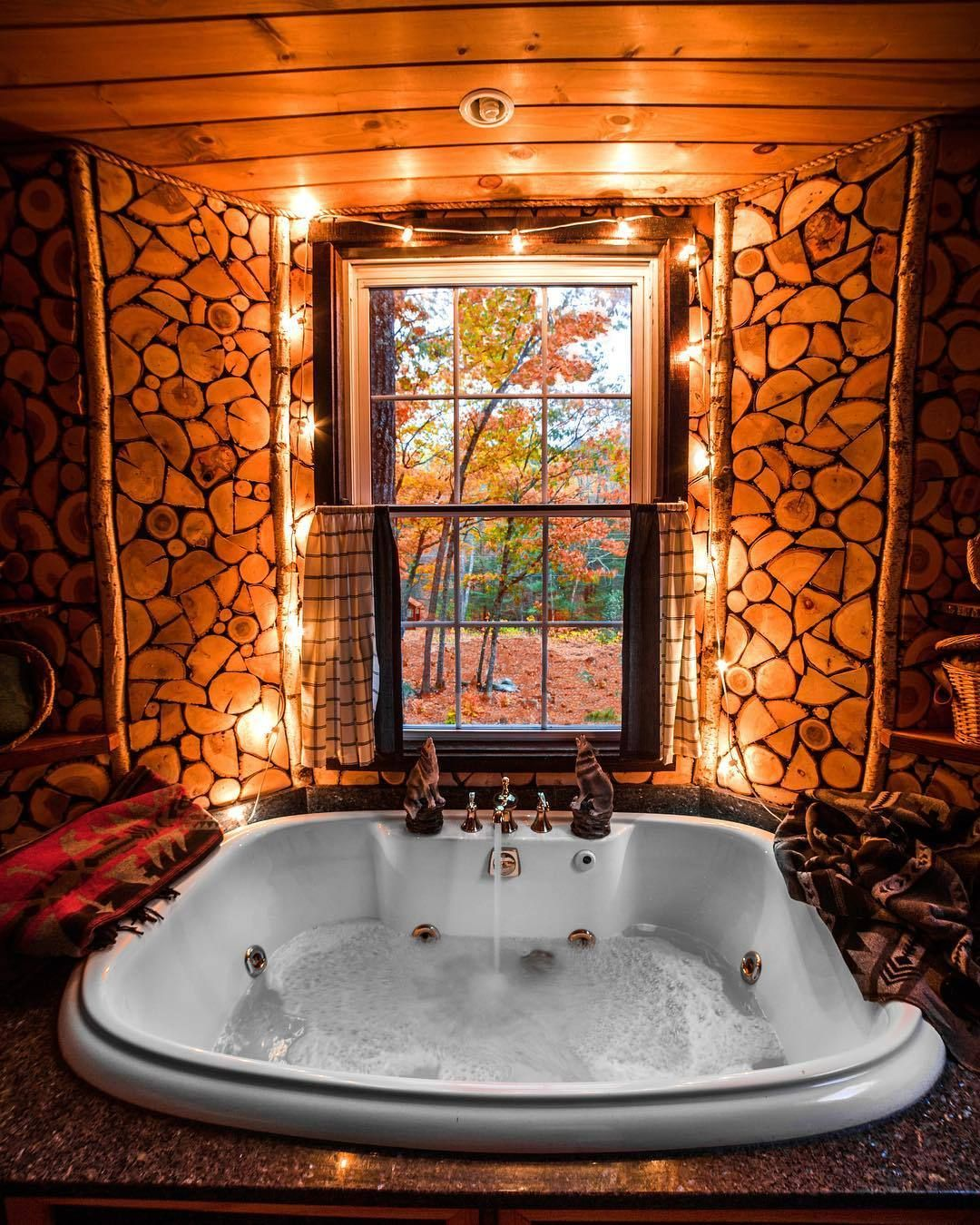 Pin By Nikita Roe On Cleanse Luxury Tree Houses Indoor Jacuzzi Rustic House